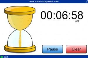 Running online egg-timer screenshot