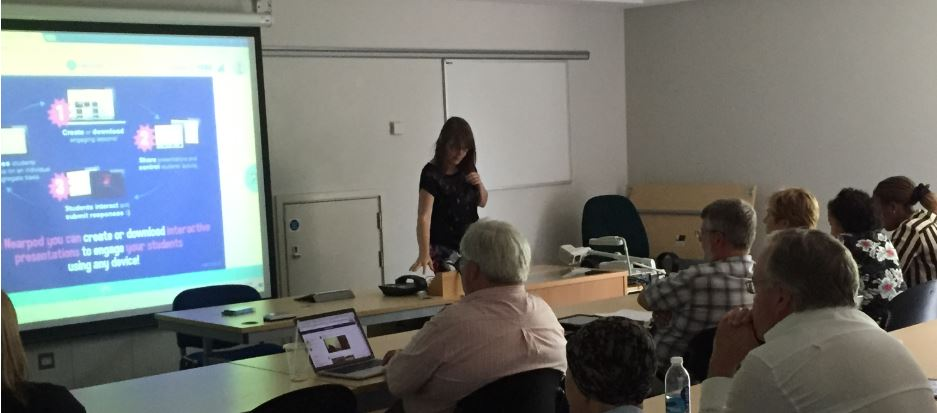 Emily Rotchell presenting on Nearpod use at eLearningMeet, University of Roehampton - June 2015